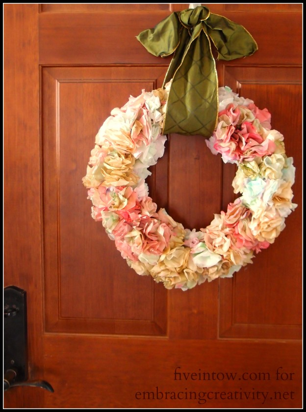 Variegated Coffee Filter Wreath
