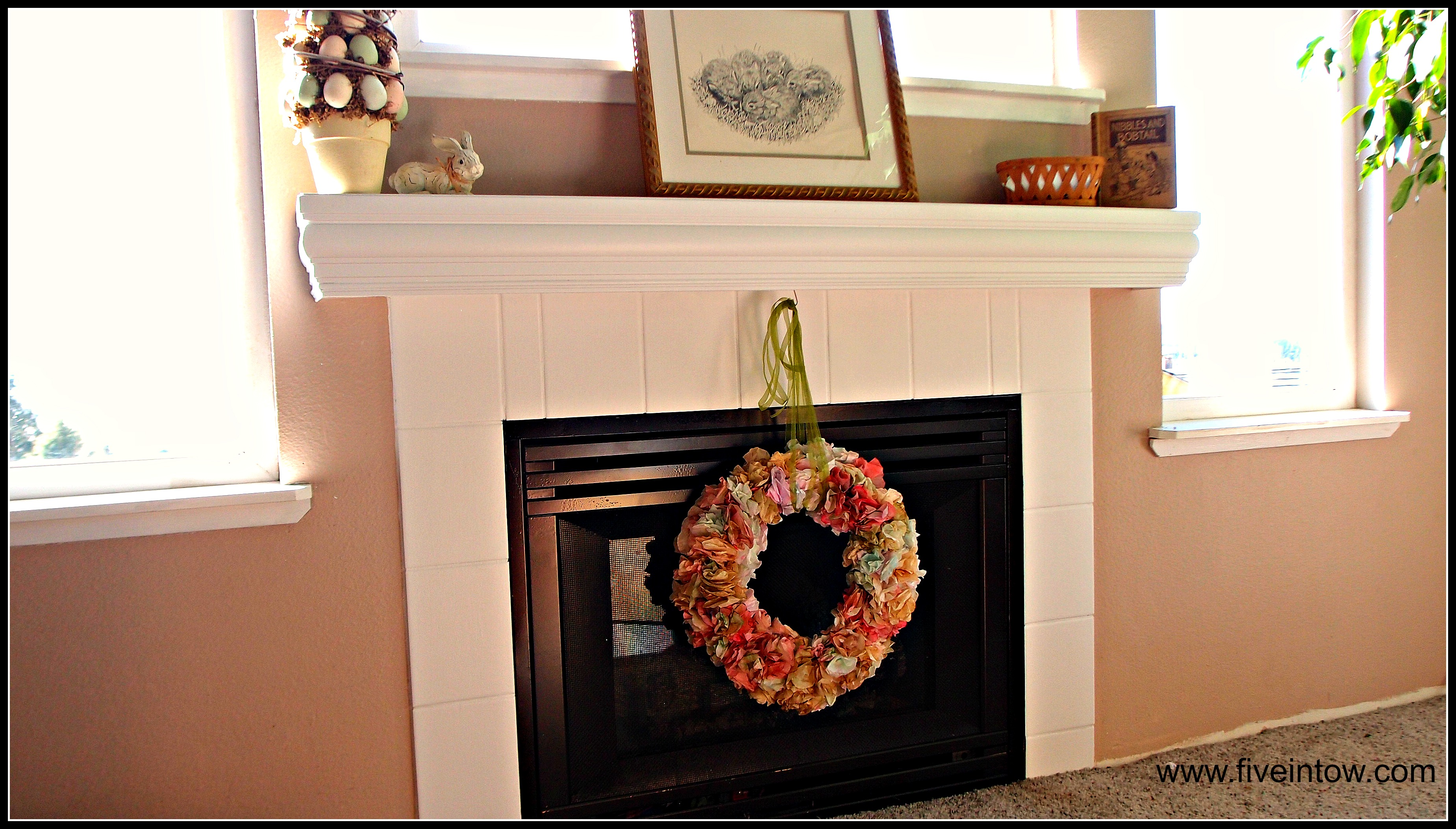 painting tile and other ways to save an ugly fireplace