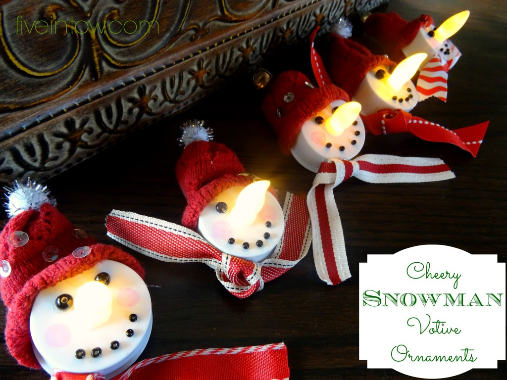 Simply Homemade Snowman Votive Ornaments Kristen Anne